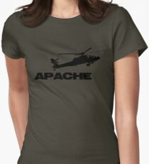 apache helicopter Womens Fitted T-Shirt