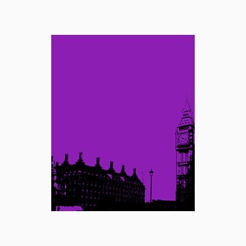 A study in purple, big ben. by nattycakes