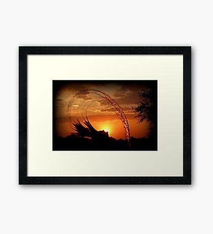 Sunset Splash Framed Print