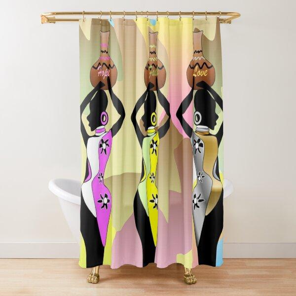 Hope,Faith & Love African Tribal Princesses Shower Curtain