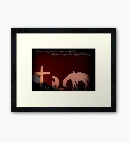 Cowboy Sympathy  Framed Print