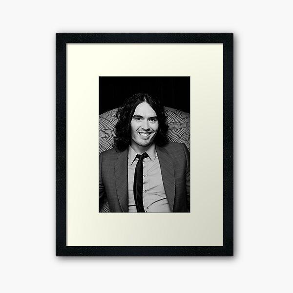 Russell Brand - comedian - actor - superstar Framed Art Print