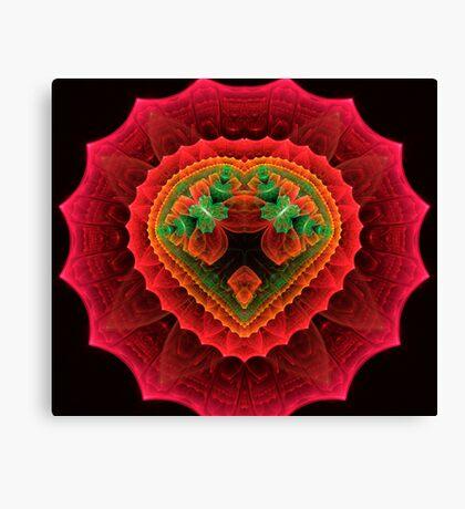 Red Velvet Heart Canvas Print