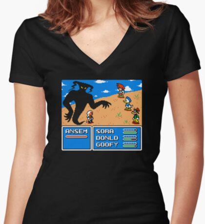 KINGDOM FANTASY Women's Fitted V-Neck T-Shirt