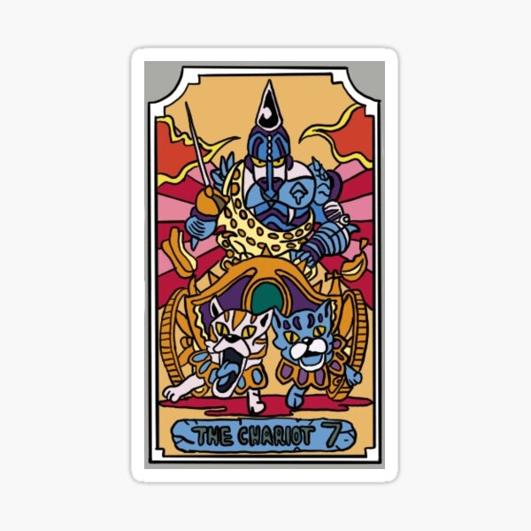 The Chariot JoJo Tarot Card Sticker