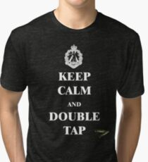 Keep Calm & Double Tap Tri-blend T-Shirt