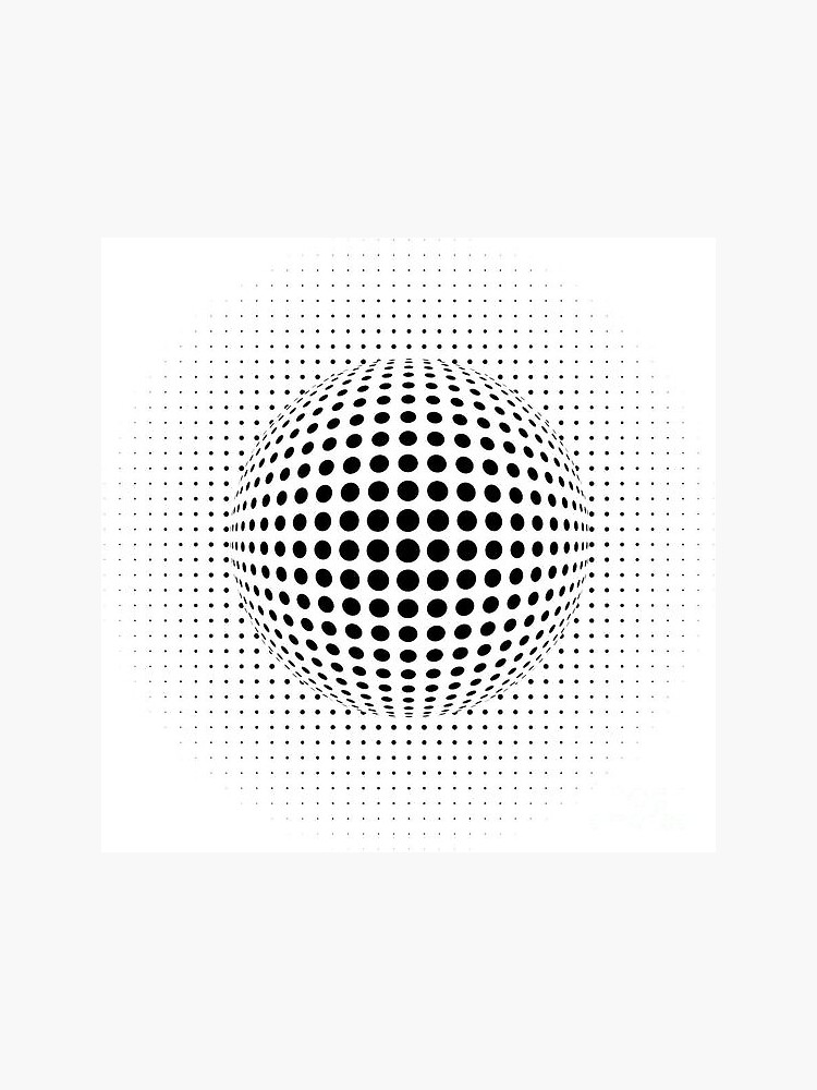 Psychedelic Pattern, ball optical illusion by znamenski