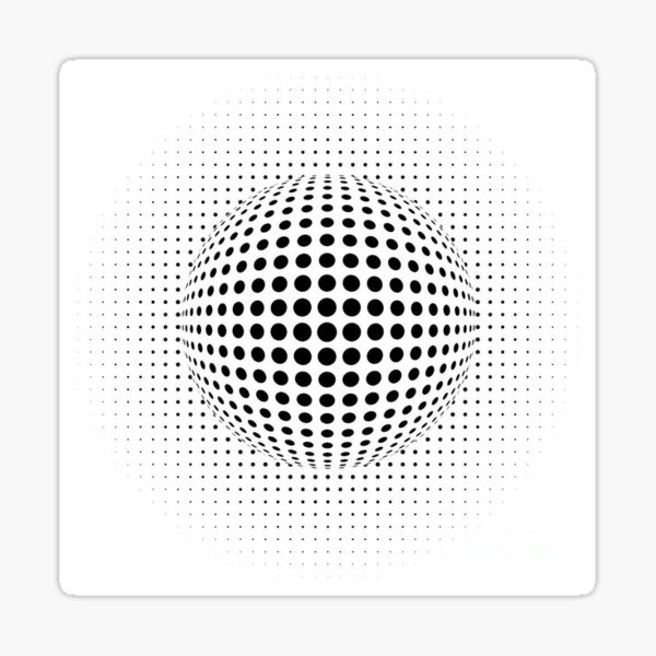 Psychedelic Pattern, ball optical illusion Sticker