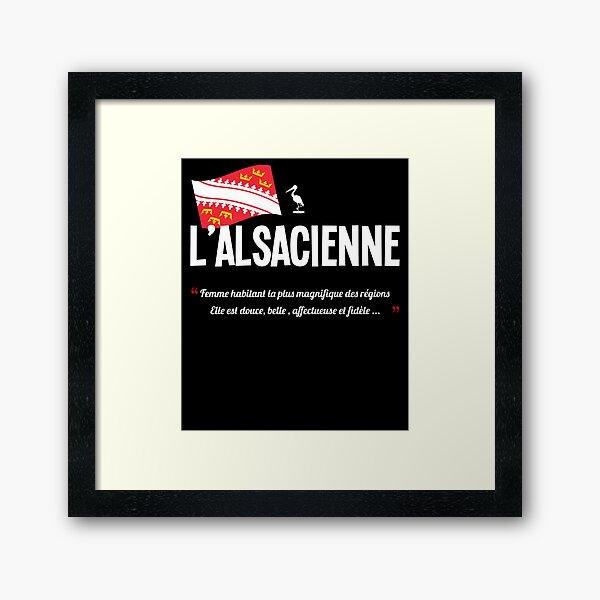 L''alsacienne / Alsace / drapeau Impression encadrée