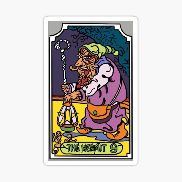 The Hermit JoJo Tarot Card Sticker