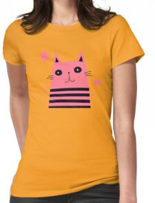 Dreaming Kitty Womens Fitted T-Shirt