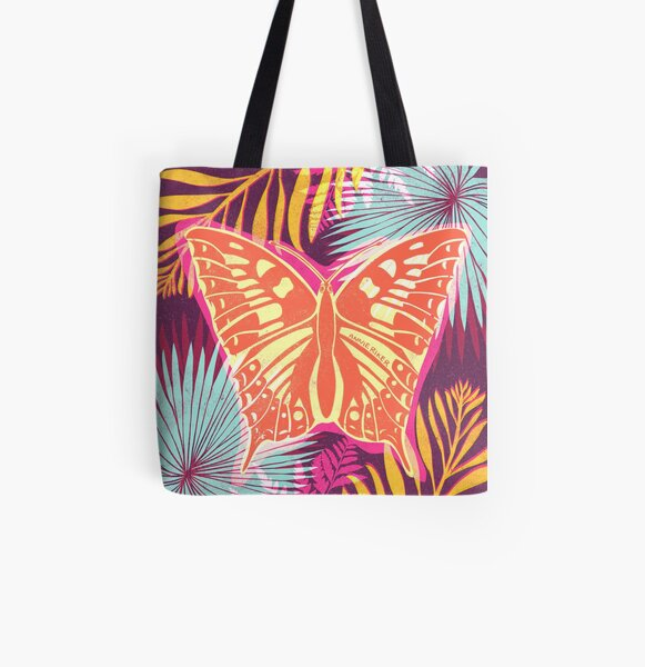 Butterfly Garden All Over Print Tote Bag