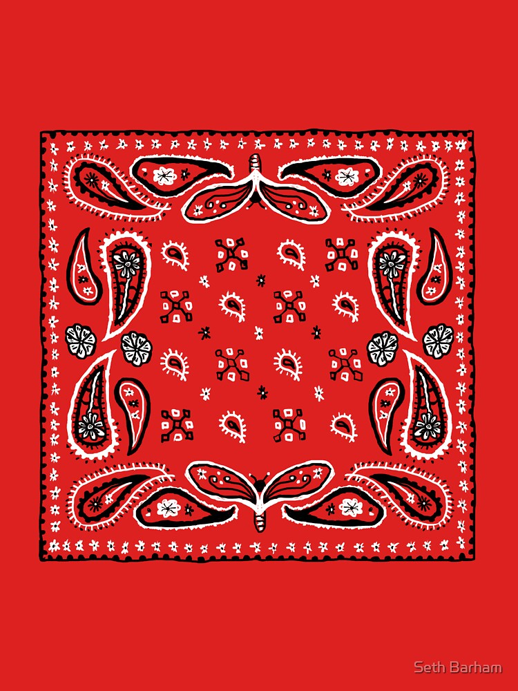 Bandana Paisley Design by footloosefabric