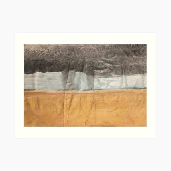Wheatbelt storms Art Print