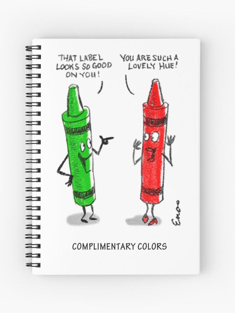 "Daryl B. Enos Fundraiser - Crayon Jokes Cartoon"" Spiral Notebook by ARE416  | Redbubble"