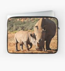 Mother and Baby Rhino Laptop Sleeve