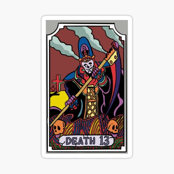 Death JoJo Tarot Card Sticker