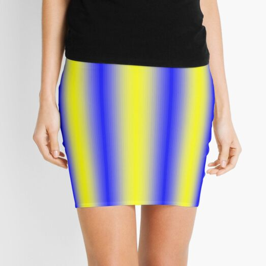 iLLusion Cobalt Blue Color Mini Skirt