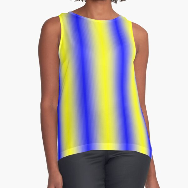 iLLusion Cobalt Blue Color Sleeveless Top