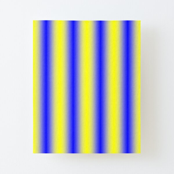 iLLusion Cobalt Blue Color Canvas Mounted Print