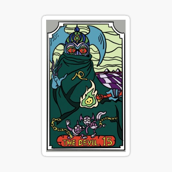 The Devil JoJo Tarot Card Sticker
