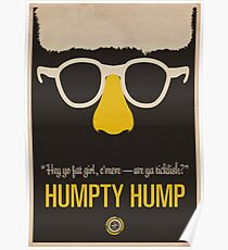 "Humpty Hump (Shock G)—""Hey yo fat girl, c'mere—are ya ticklish?"" Equal & Opposite funny glasses poster series. Part 2 of 2.  Poster"