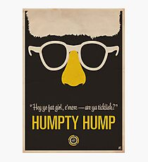 """Humpty Hump (Shock G)—""""Hey yo fat girl, c'mere—are ya ticklish?"""" Equal & Opposite funny glasses poster series. Part 2 of 2.  Photographic Print"""