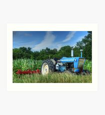 Ford 5000 Tractor Art Print
