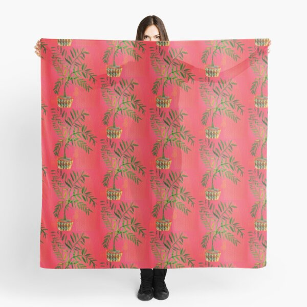 tropicana red date palm Scarf