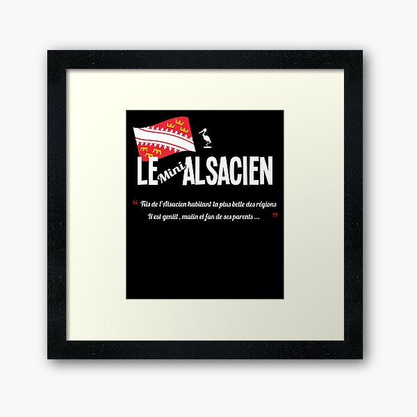 Le fils de l'alsacien /Alsace Impression encadrée