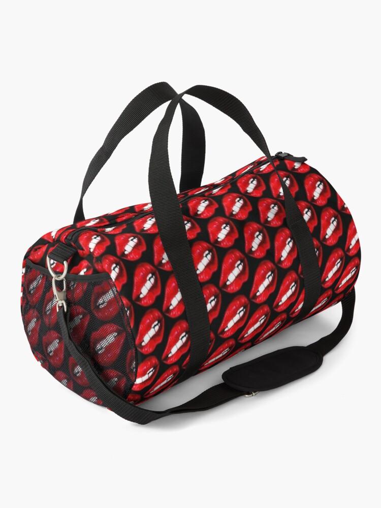 Alternate view of Lip Pattern - Black Duffle Bag