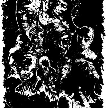 The Walking Dead Walker Zombie Inspired  by BGauntlett