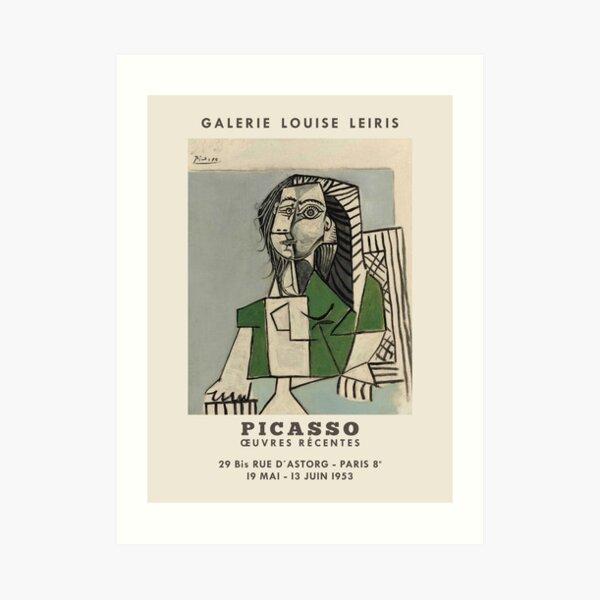 Pablo Picasso. Exhibition poster for Galerie LOUISE LEIRIS in Paris, 1953. Art Print