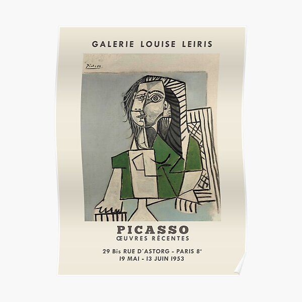 Pablo Picasso. Exhibition poster for Galerie LOUISE LEIRIS in Paris, 1953. Poster