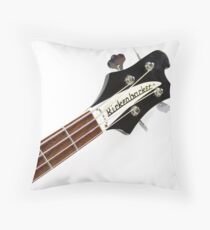 Rickenbacker Bass Music Photo Print Throw Pillow