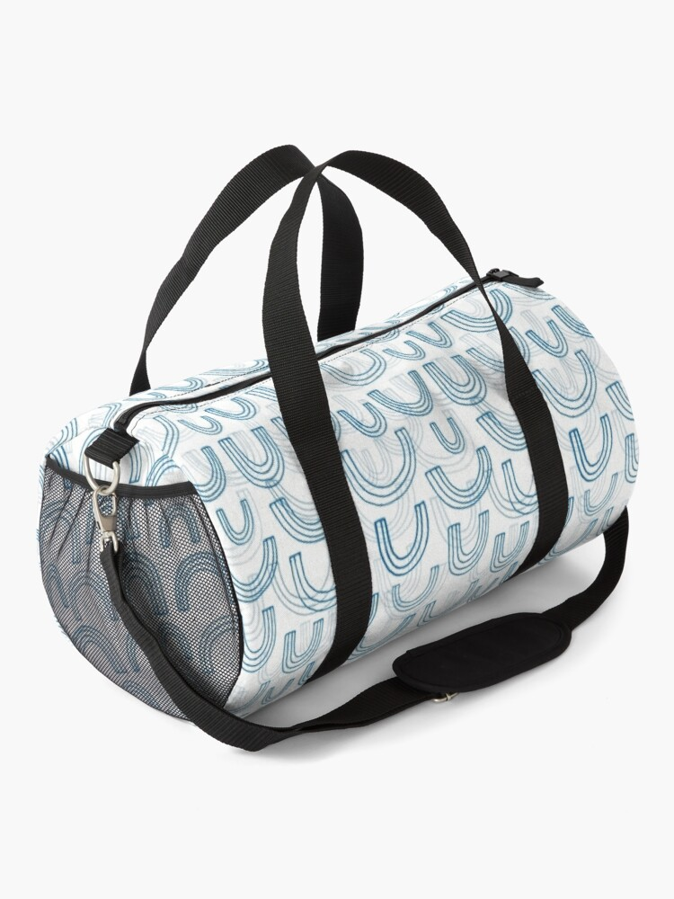 Alternate view of Rainbow echoes - fun abstract pattern by Cecca Designs Duffle Bag