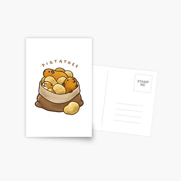 Pigtatoes Postcard