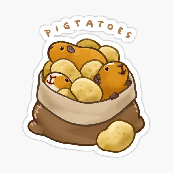 Pigtatoes Sticker