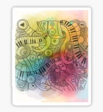 Sheet Music piano  Sticker