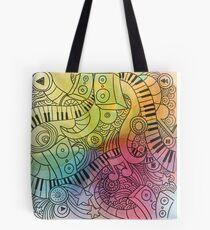 Sheet Music piano  Tote Bag