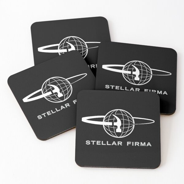 [Transparent] Stellar Firma Podcast Logo Coasters (Set of 4)