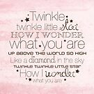 Twinkle Twinkle – 2:3 – Pink  by Janelle Wourms