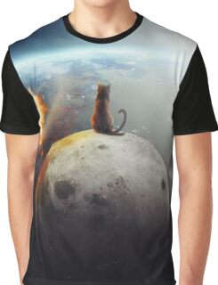 Cat Victory T-shirt Graphique