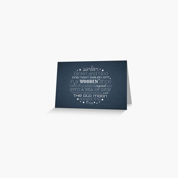 Winkin Blinkin and Nod – 2:3 – Denim  Greeting Card