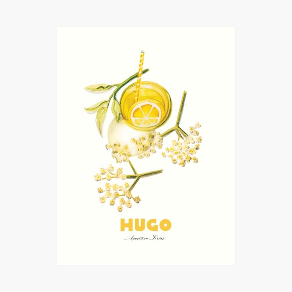 Hugo Cocktail Art Print