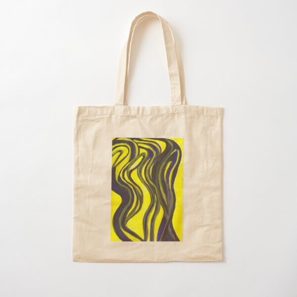 Myths and Legends Abstract (yellow and black) Cotton Tote Bag