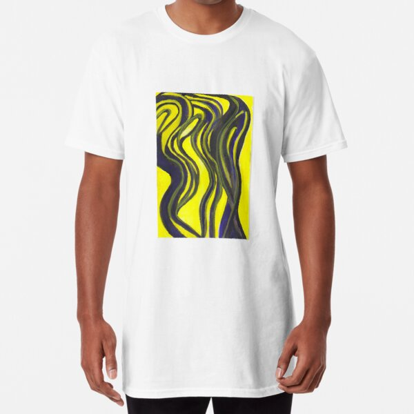 Myths and Legends Abstract (yellow and black) Long T-Shirt