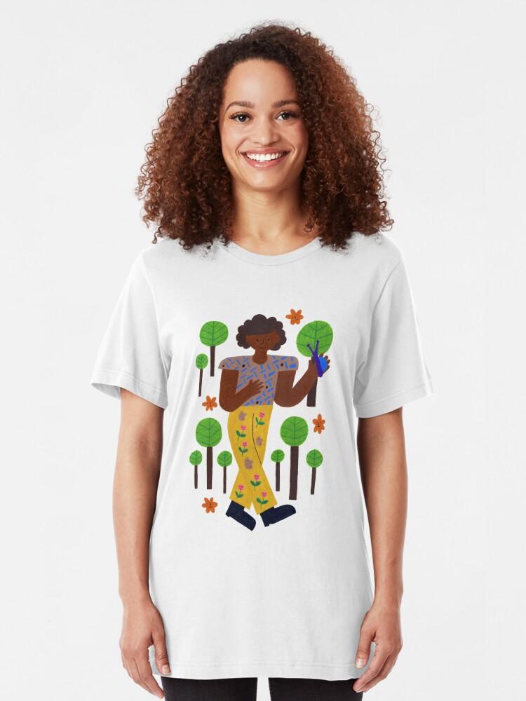 Alternative Ansicht von Bummeln durch die Bäume Slim Fit T-Shirt