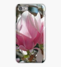 Pink Magnolia Flower Blossoms iPhone Case/Skin