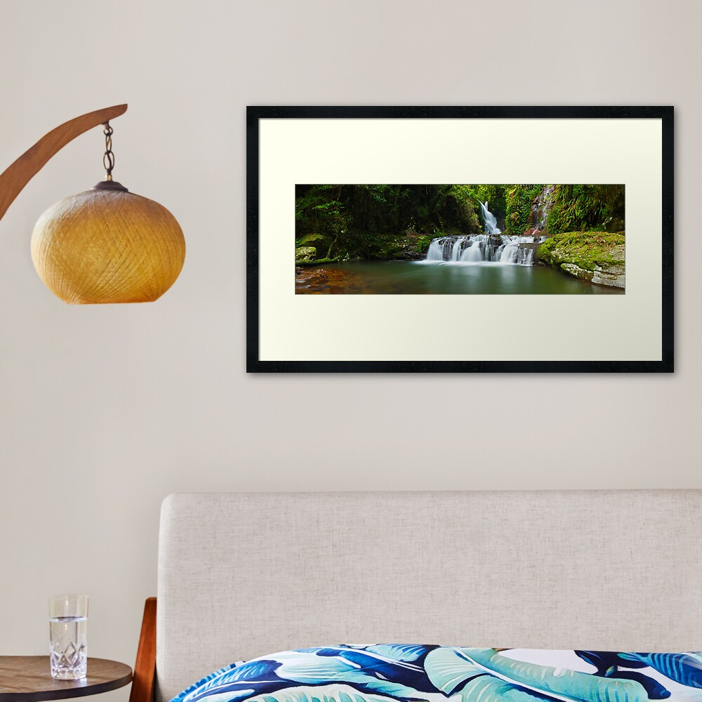 Elabana Falls, Lamington National Park, Queensland, Australia Framed Art Print